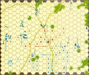 The game map - Napoleon at Waterloo
